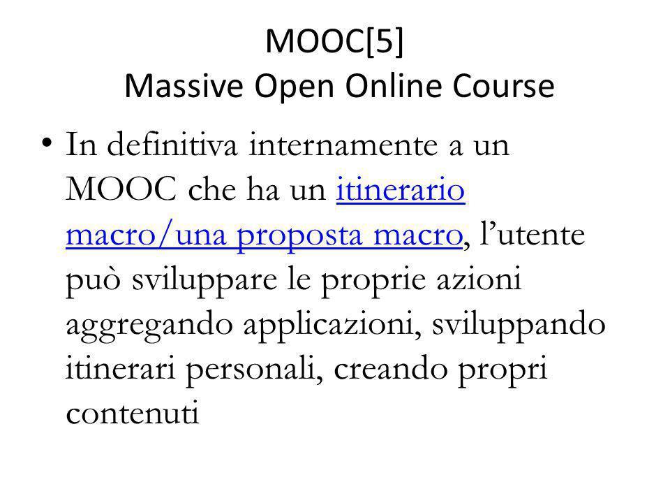 MOOC[5] Massive Open Online Course